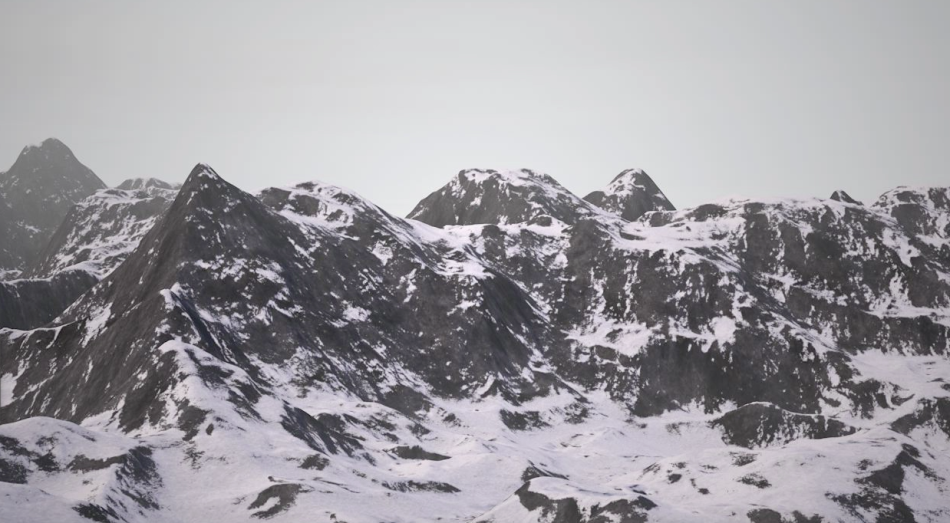 Rendered mountains by Ceel Mogami de Haas
